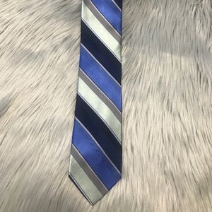 Michael Khors Men's Tie Blue and Greenish Striped